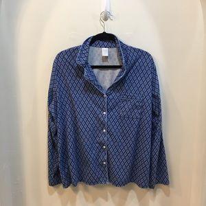 ADonna Blue Print 2 Piece Sleepwear